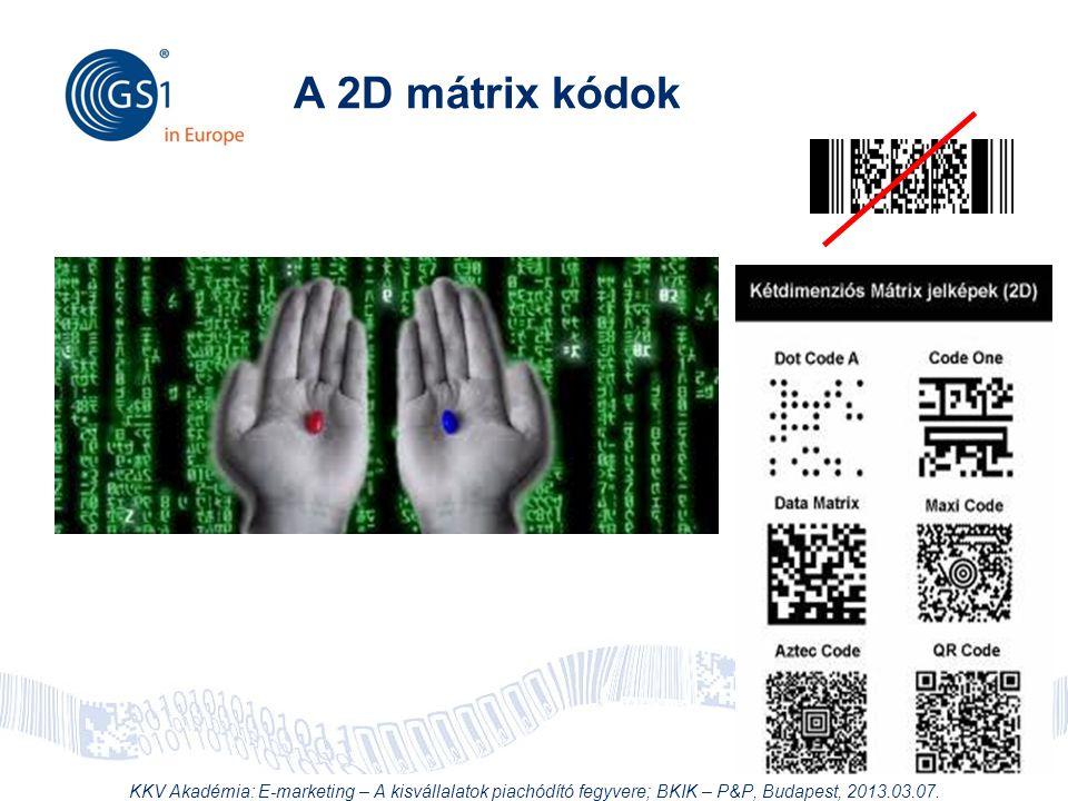 © 2012 GS1 Driving Momentum Together A 2D mátrix kódok KKV Akadémia: E-marketing – A kisvállalatok piachódító fegyvere; BKIK – P&P, Budapest, 2013.03.