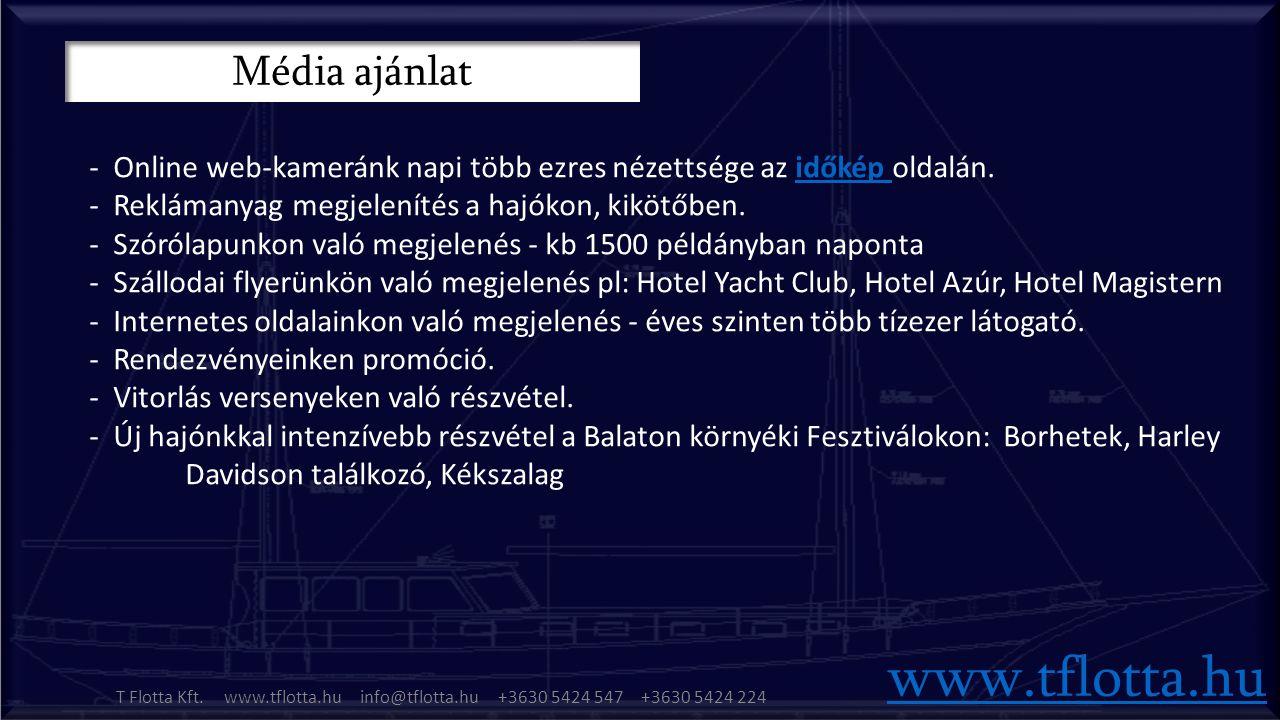 Média ajánlat www.tflotta.hu T Flotta Kft.