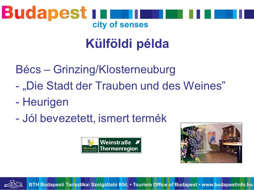 """Külföldi példa Bécs – Grinzing/Klosterneuburg - """"Die Stadt der Trauben und des Weines"""" - Heurigen - Jól bevezetett, ismert termék"""