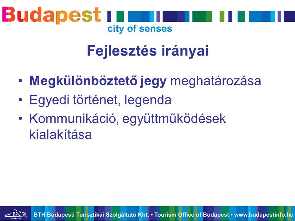 BTH turisztikai promóciója •Marketing minden területére kiterjedő eszközrendszer –Saját termékek (Budapest Kártya), kiadványok –Külföldi kiállítások, belföldi kitelepülések –Turisztikai portál –Studytourok, sajtóreggelik –Tourinform irodák a város 6 pontján