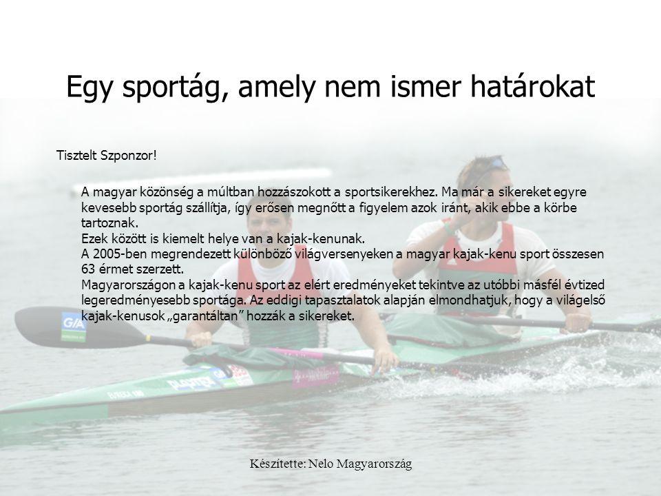 Készítette: Nelo Magyarország Egy sportág, amely nem ismer határokat Tisztelt Szponzor! A magyar közönség a múltban hozzászokott a sportsikerekhez. Ma