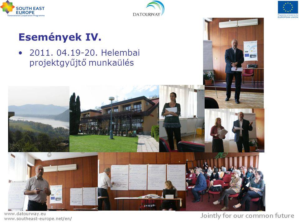 Események IV. •2011. 04.19-20. Helembai projektgyűjtő munkaülés