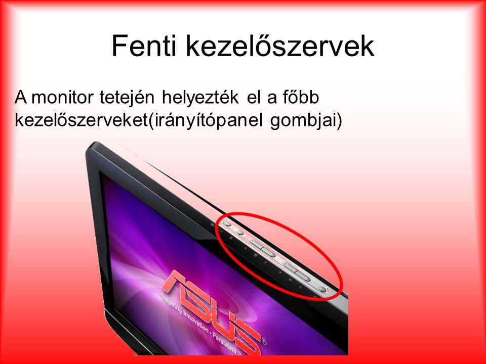 Ki és Bemenetek •1- Kensington zár •2- billenő kapcsoló mellyel a hálózati feszültséget tudjuk ki illetve bekapcsolni •3- 220 voltos kábel aljzata •4- két HDMI bemenet •5- jobb és baloldali hanghoz tartozó RCA csatlakozók •6- D-Sub •7- Stereo Jack •8- Scart 1 és Scart2 •9- S-Video •10- komponens •11- RCA •12- Optikai •13- Antenna 1 2 3 4 5 6 7 8 9 10 11 1213 11