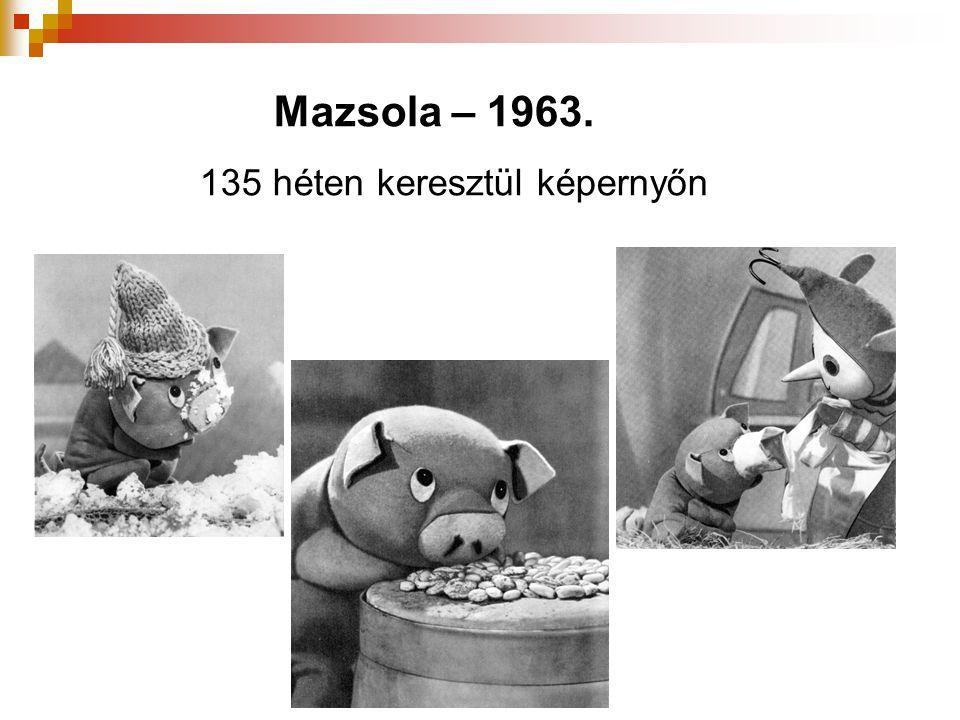 Mazsola – 1963. 135 héten keresztül képernyőn