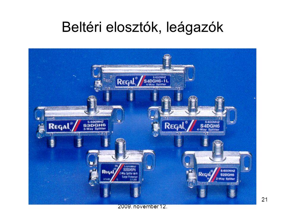 Távközlő hálózatok tervezése -- 2009. november 12. 20 Multitap-ek