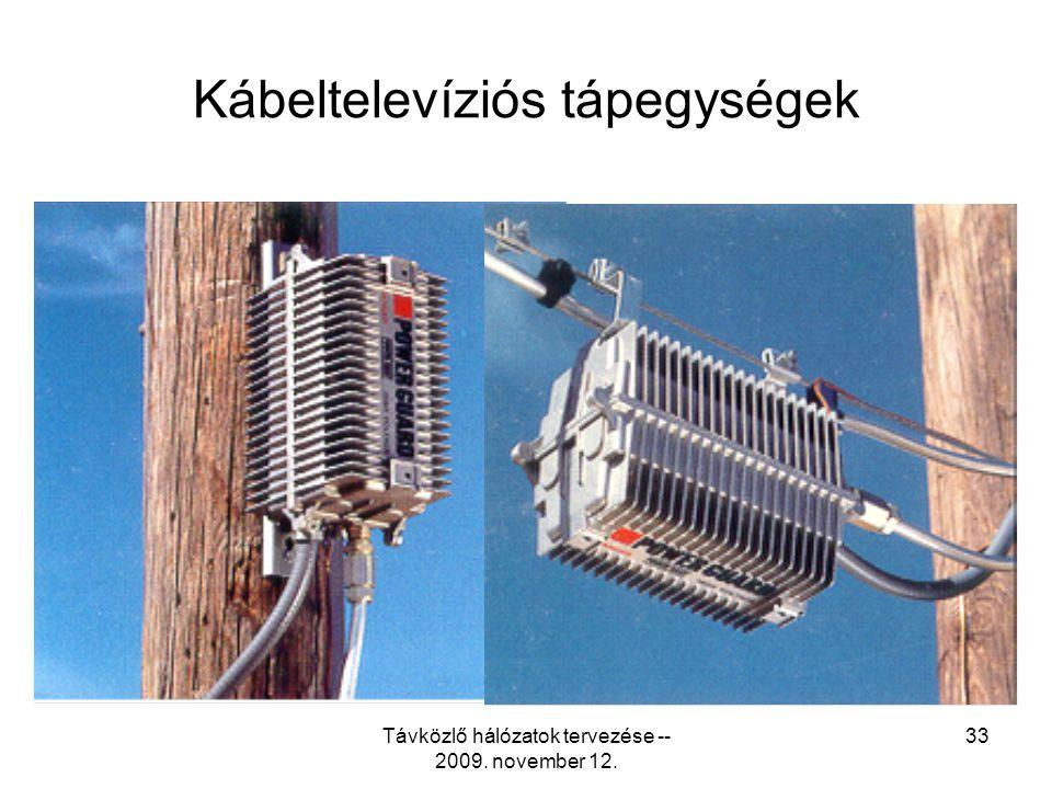 Távközlő hálózatok tervezése -- 2009. november 12. 32 A megfelelő erősítő kiválasztása •Kis zajszám = jó kaszkádolhatóság •Magas kivezérelhetõség = jó