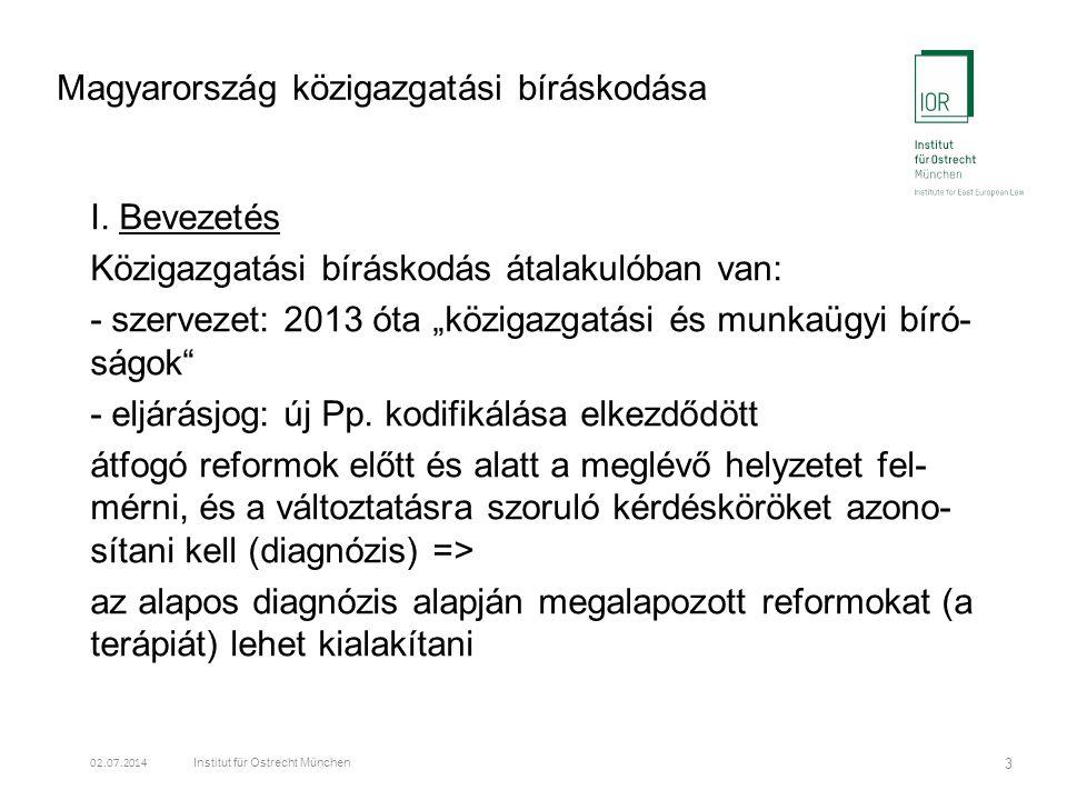 Magyarország közigazgatási bíráskodása I.