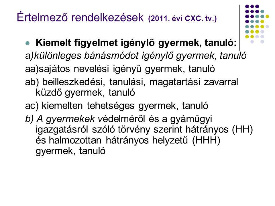 777 Sajátos nevelési igényű gyermek, tanuló: (2011.
