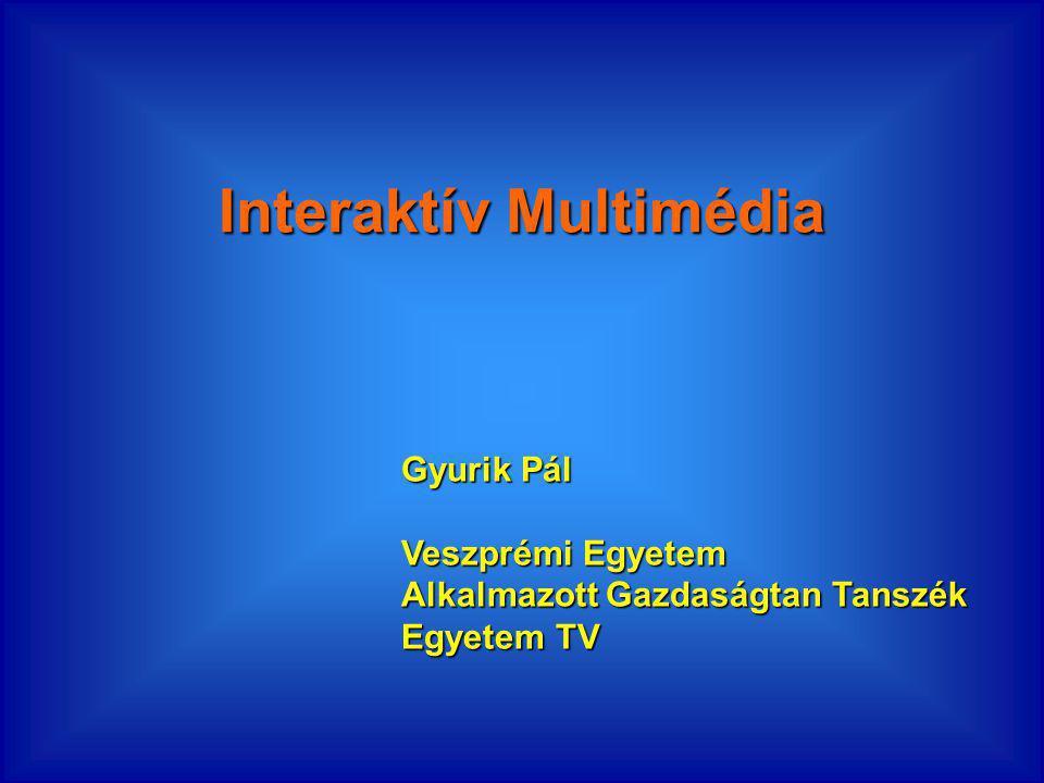Interaktív Multimédia Gyurik Pál Veszprémi Egyetem Alkalmazott Gazdaságtan Tanszék Egyetem TV