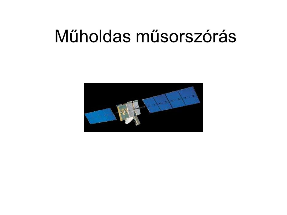 Műholdas műsorszórás