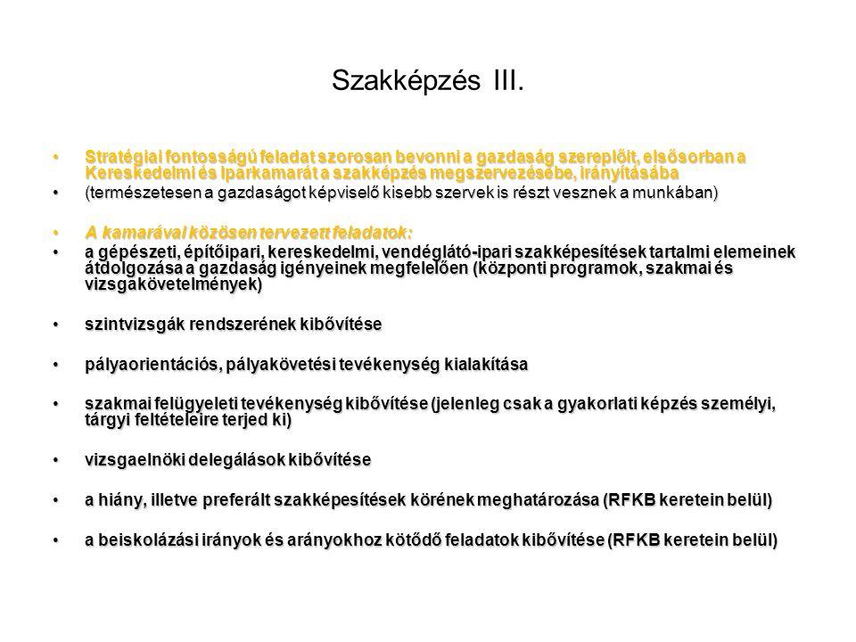 Szakképzés III.