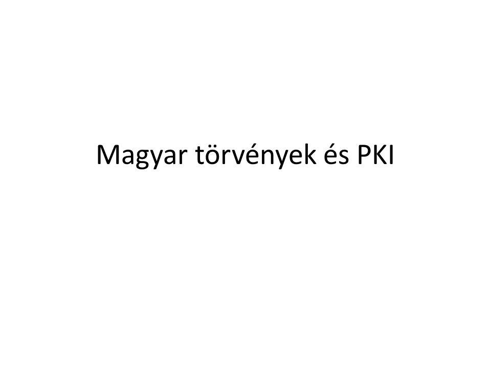 Magyar törvények és PKI