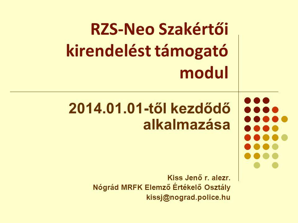 A szakértői modul büntetőeljárásokban történő bevezetésének jogszabályi - normatív háttere:  2005 évi XLVII tv az igazságügyi szakértői tevékenységről  1998 évi XIX tv a Büntetőeljárásról.