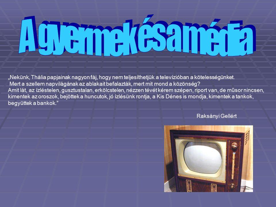 """A MÉDIA SZEREPE A GYEREKEK FEJLŐDÉSÉBEN A televízió, mint elektromos babysitter """"."""