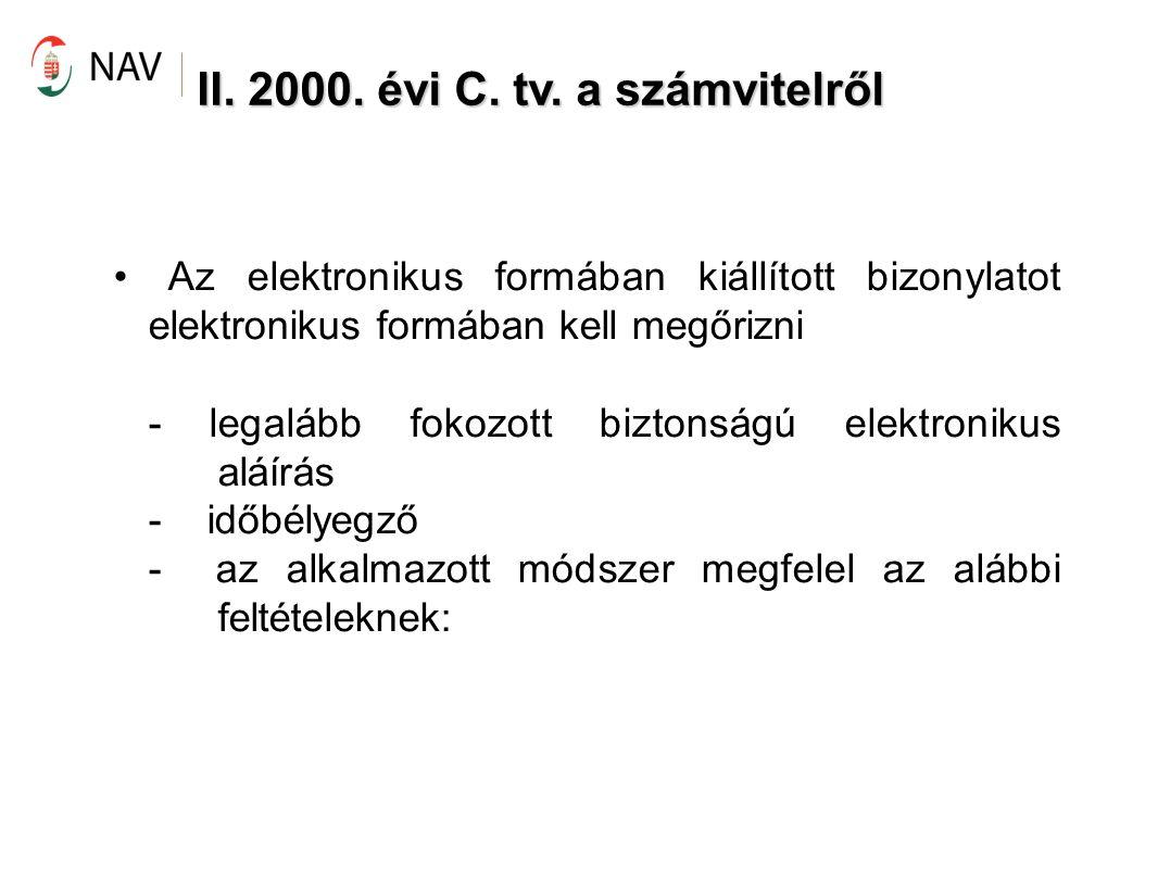 E-aláírással ellátott számla vs.