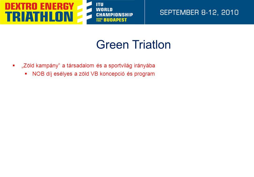 """Green Triatlon  """"Zöld kampány"""" a társadalom és a sportvilág irányába  NOB díj esélyes a zöld VB koncepció és program"""