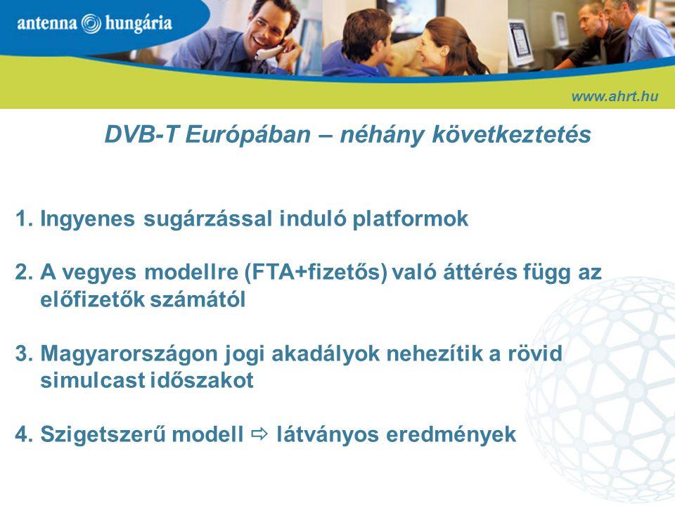 Forrás: Informa Media Group Várható digitális penetráció Európában 2010-ben www.ahrt.hu