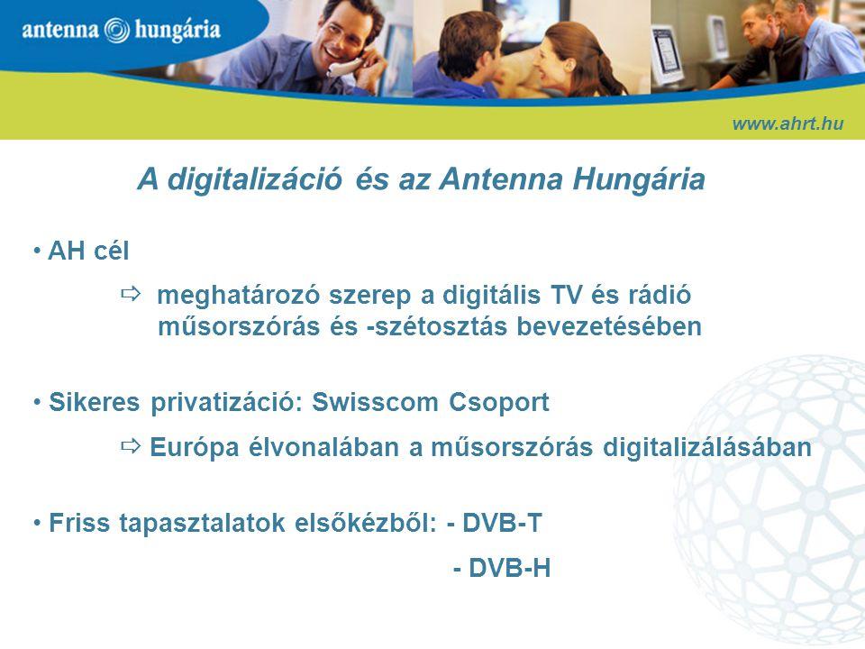 www.ahrt.hu DVB-T (földfelszíni digitális televízió)