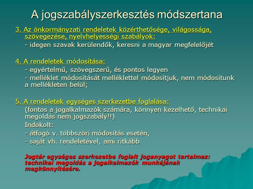 A jogszabályszerkesztés módszertana 3.