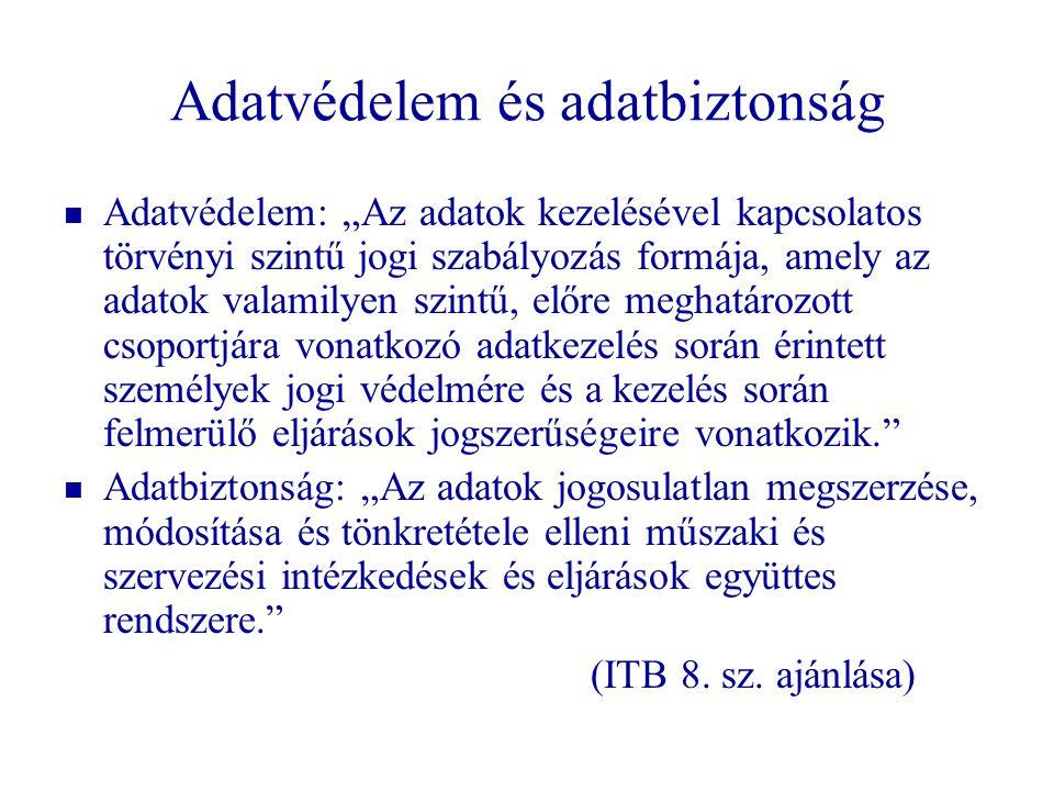 Történet – Magyar szabályozás   1992.évi LXIII.