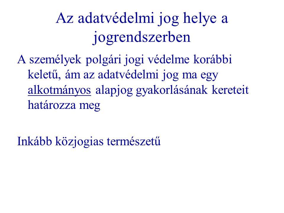 Történet – Magyar szabályozás   Szektorális törvények   1992.