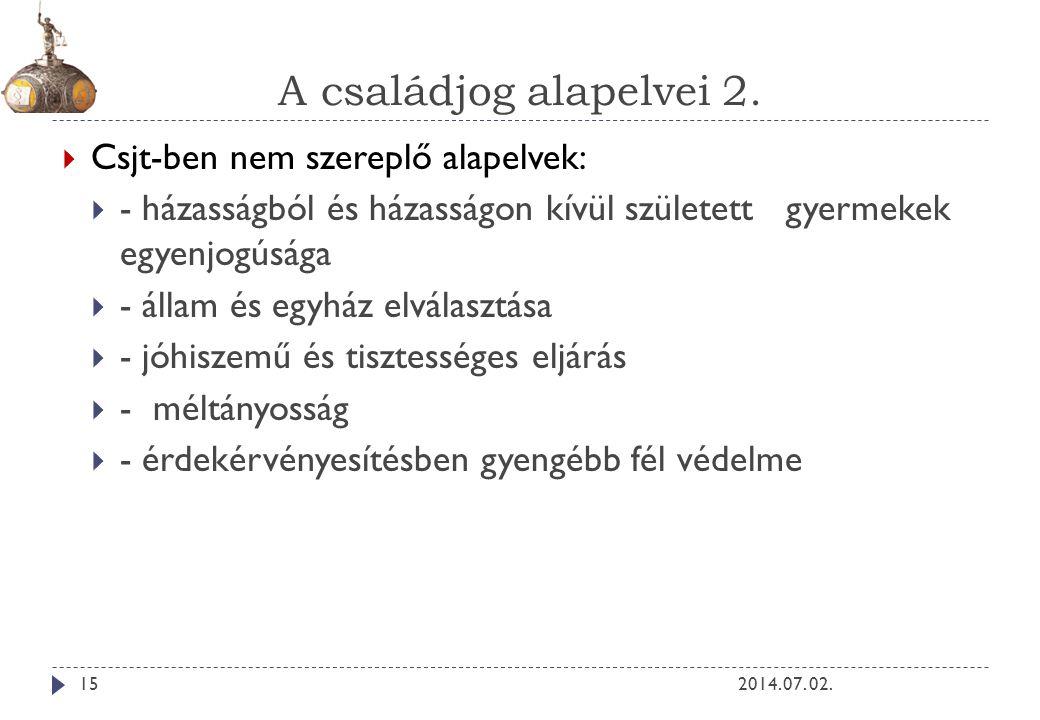 A családjog alapelvei 2.2014. 07.