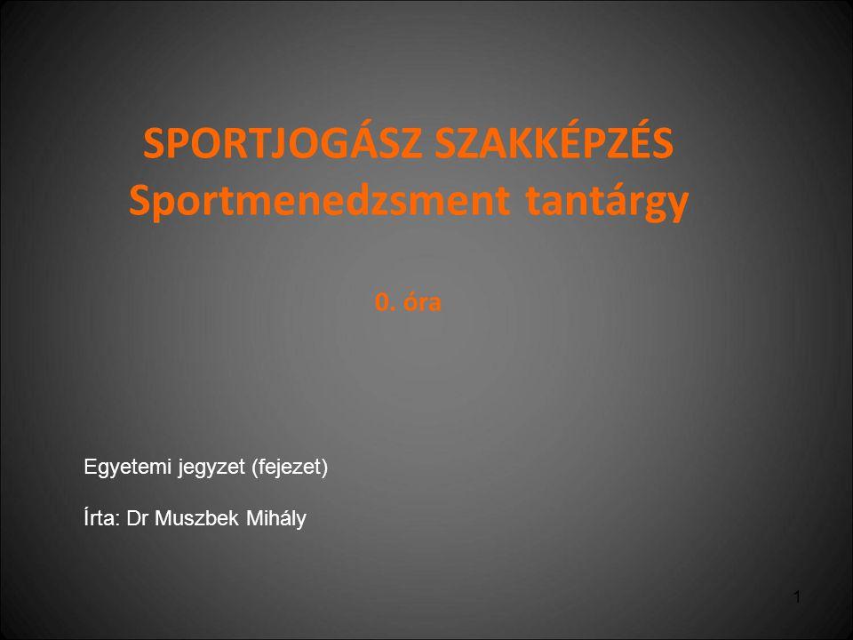 2 Sport és a gazdaság kapcsolata