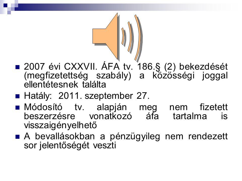  2007 évi CXXVII. ÁFA tv.