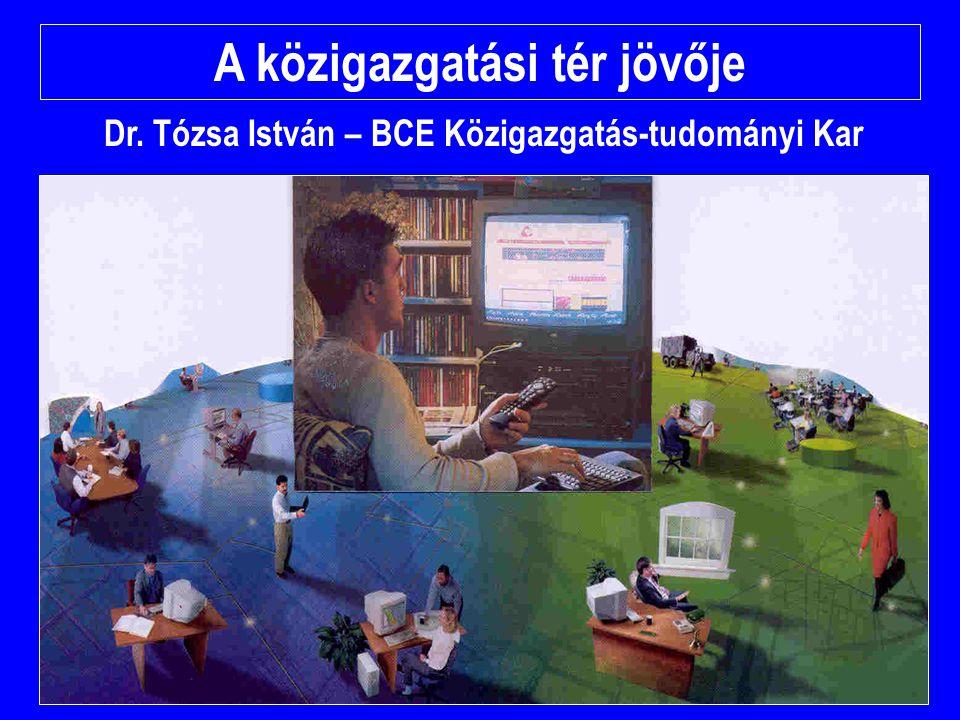 A közigazgatási tér jövője Dr. Tózsa István – BCE Közigazgatás-tudományi Kar