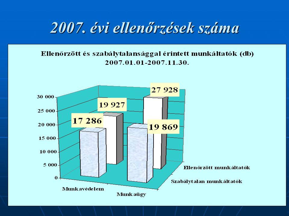 19 2007. évi ellenőrzések száma