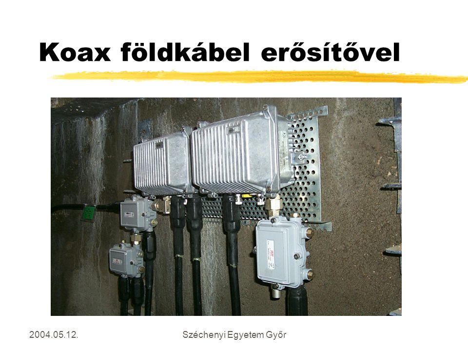 2004.05.12.Széchenyi Egyetem Győr Koax földkábel erősítővel