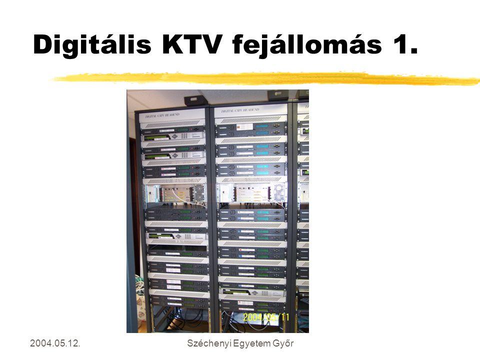 2004.05.12.Széchenyi Egyetem Győr Digitális KTV fejállomás 1.