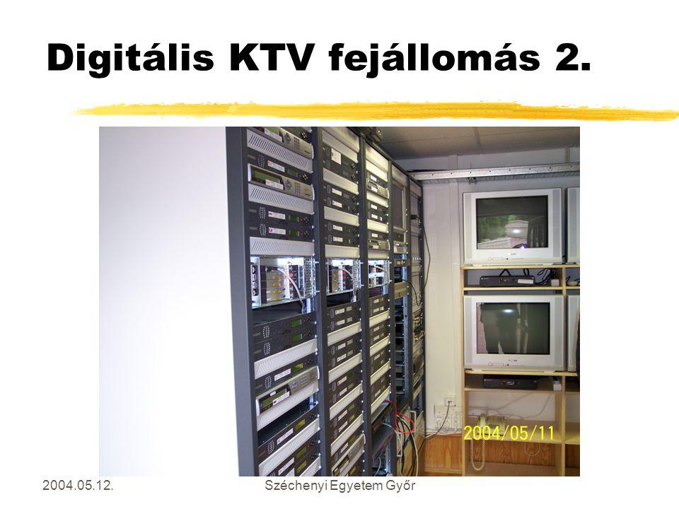 2004.05.12.Széchenyi Egyetem Győr Digitális KTV fejállomás 2.