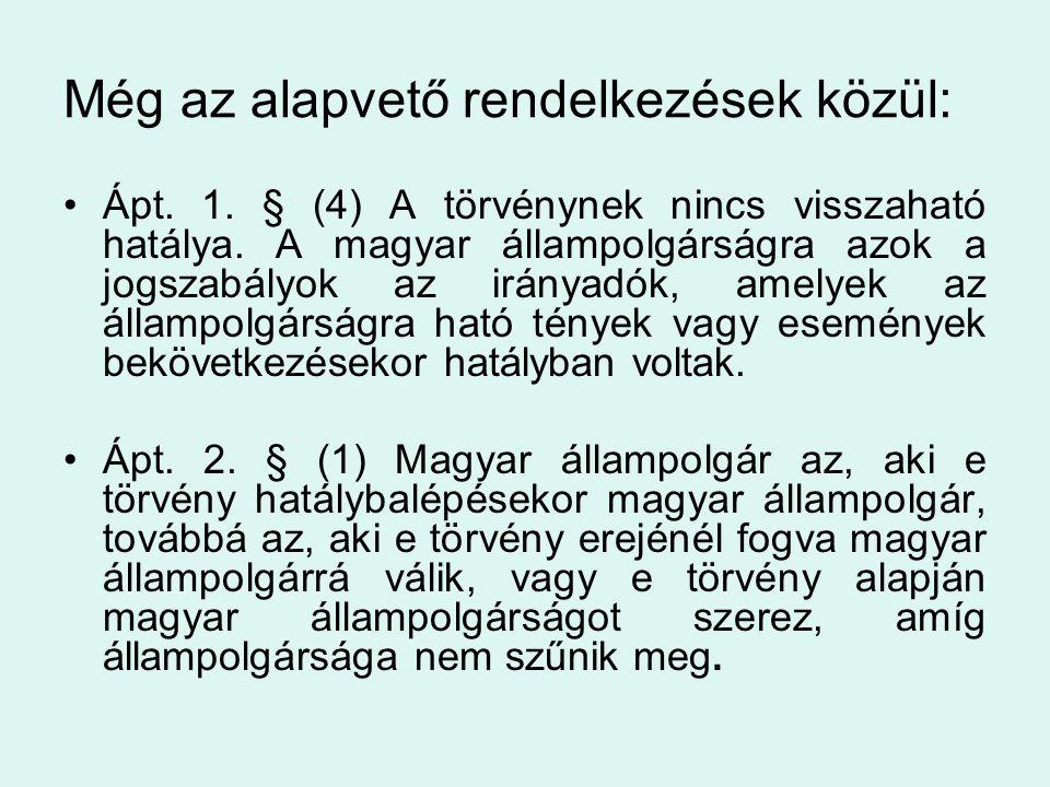 Csatolandó okiratok  Ápt.14.