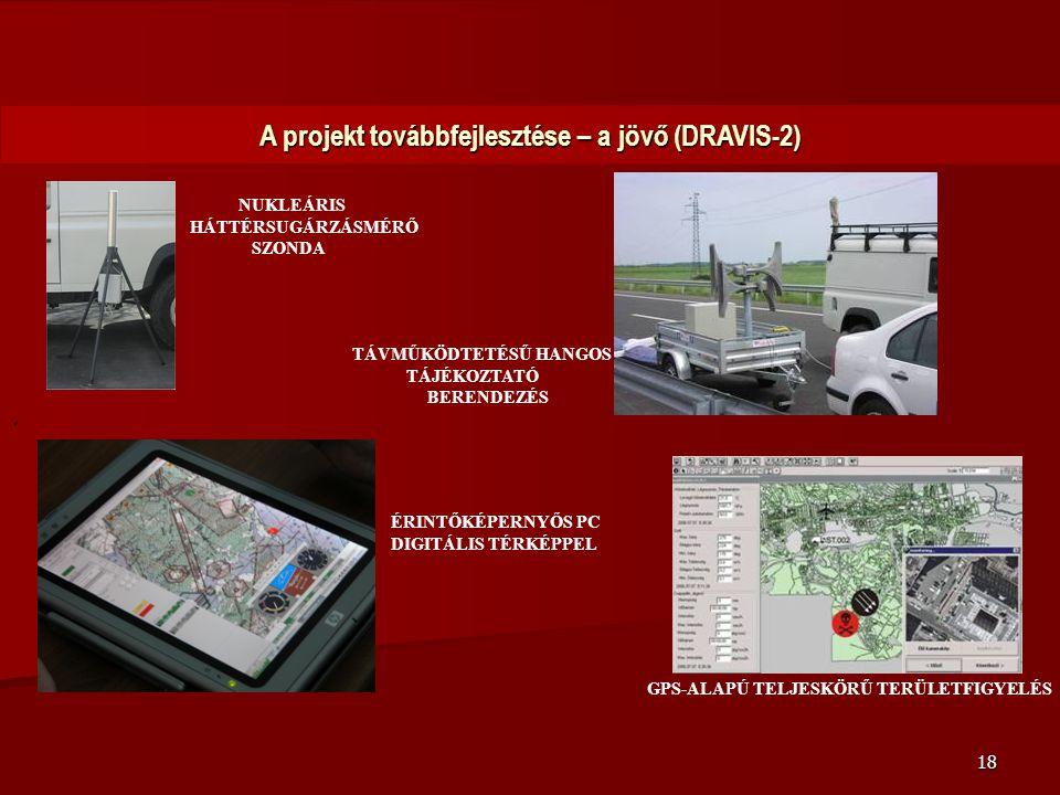 18 A projekt továbbfejlesztése – a jövő (DRAVIS-2). TÁVMŰKÖDTETÉSŰ HANGOS TÁJÉKOZTATÓ BERENDEZÉS NUKLEÁRIS HÁTTÉRSUGÁRZÁSMÉRŐ SZONDA ÉRINTŐKÉPERNYŐS P