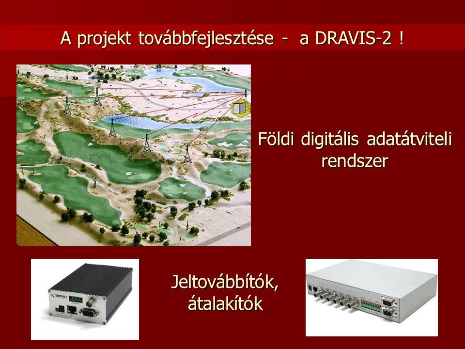 Földi digitális adatátviteli rendszer Jeltovábbítók, átalakítók A projekt továbbfejlesztése - a DRAVIS-2 !