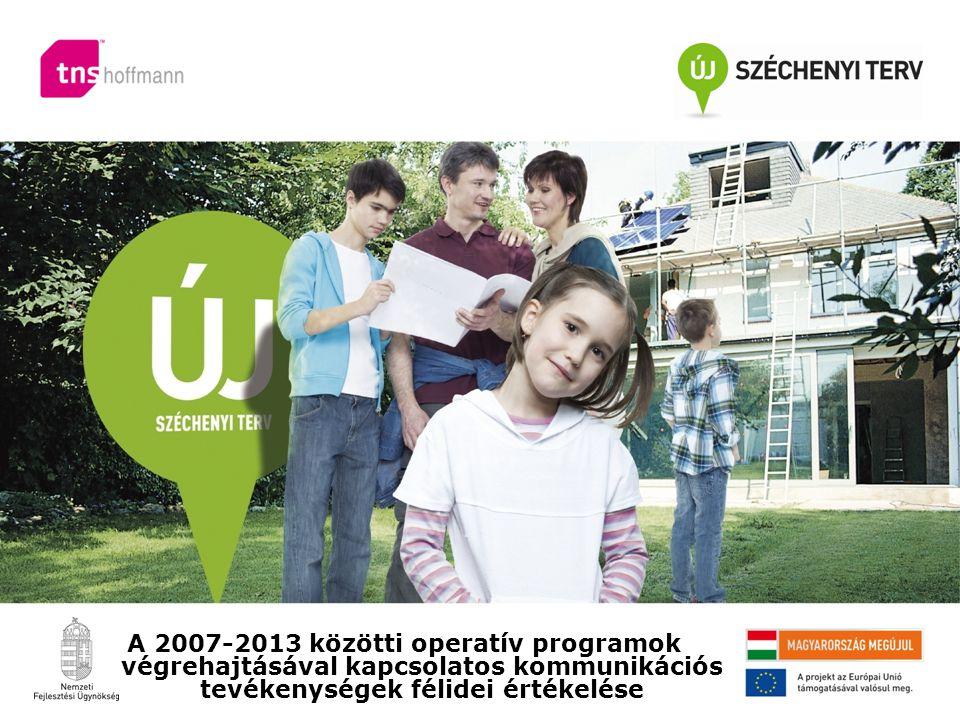 A 2007-2013 közötti operatív programok végrehajtásával kapcsolatos kommunikációs tevékenységek félidei értékelése