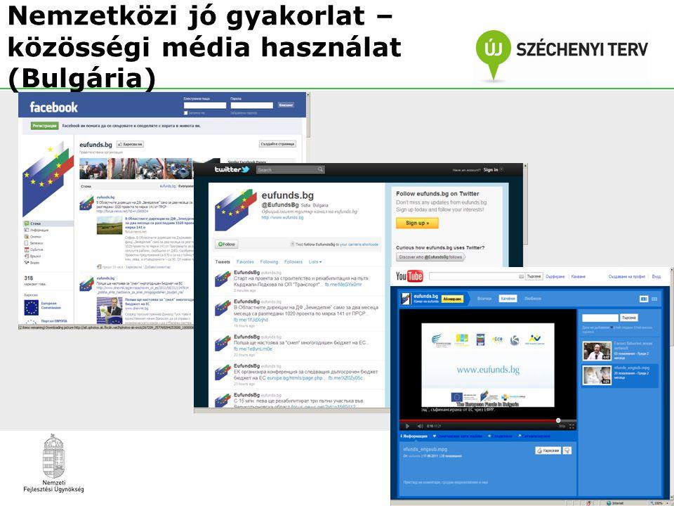 Nemzetközi jó gyakorlat – közösségi média használat (Bulgária)