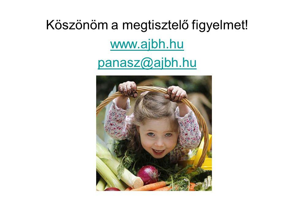 Köszönöm a megtisztelő figyelmet! www.ajbh.hu panasz@ajbh.hu