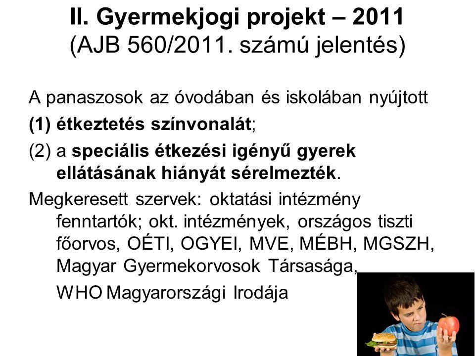 II. Gyermekjogi projekt – 2011 (AJB 560/2011.
