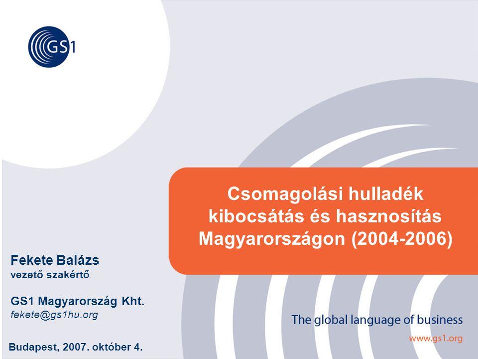 ©2007 GS1 Hungary 22 Csomagolás kibocsátás anyagfajtánként