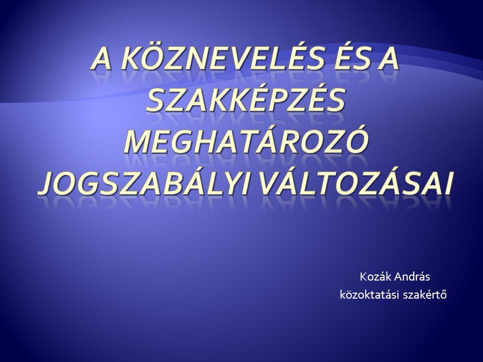 Kozák András közoktatási szakértő