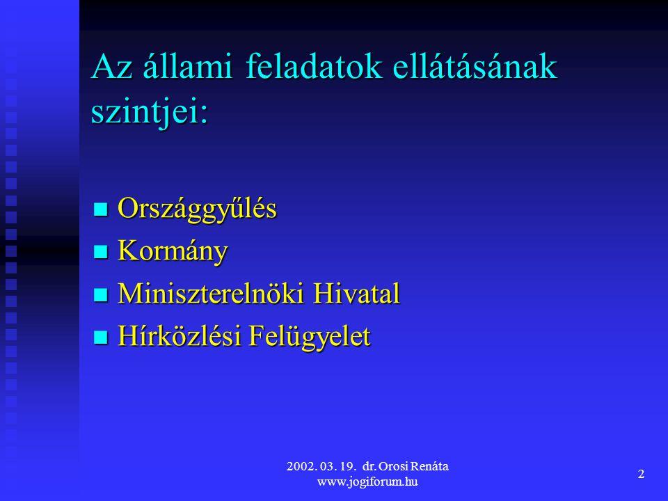 2002.03. 19. dr. Orosi Renáta www.jogiforum.hu 13 A HDB sajátos eljárási rendje – Áe.