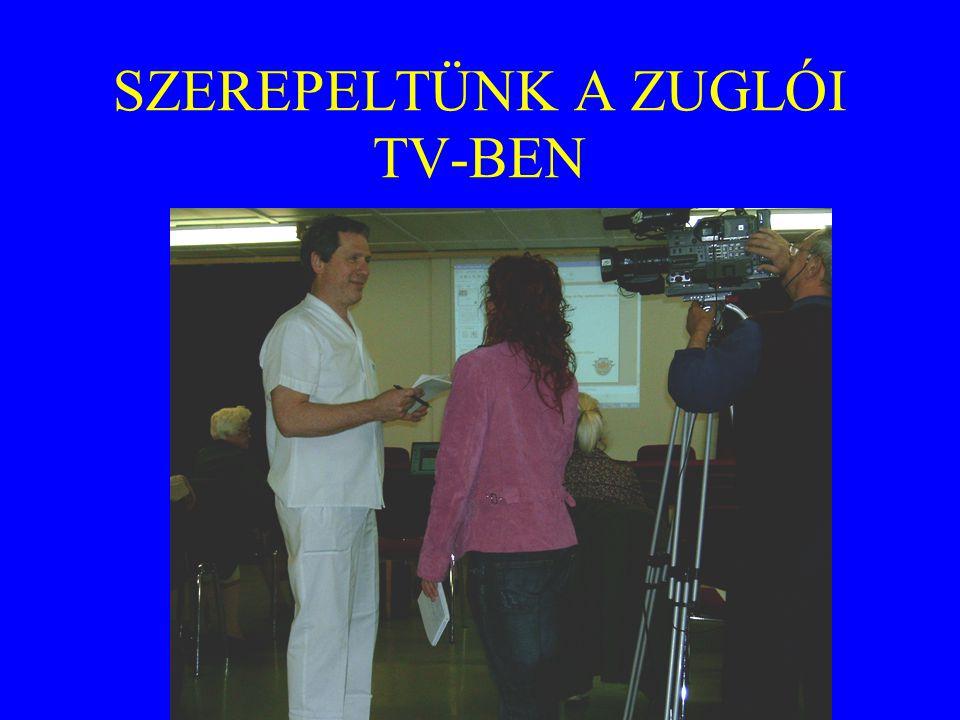 SZEREPELTÜNK A ZUGLÓI TV-BEN