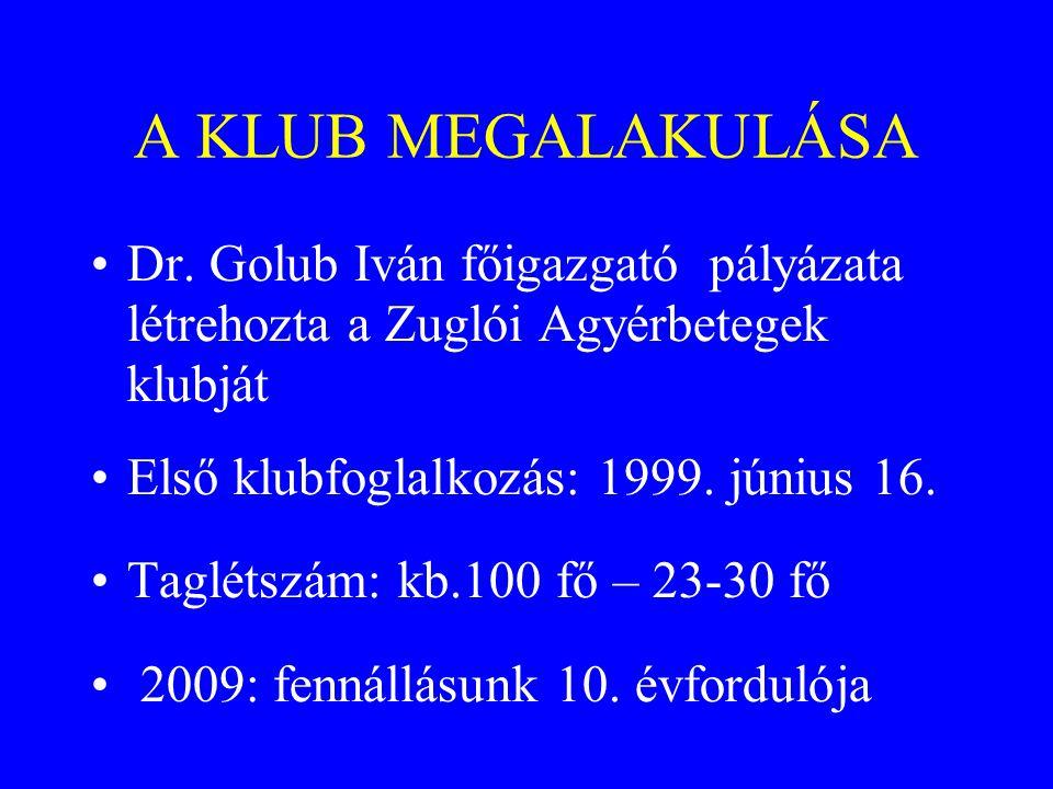 A KLUB MEGALAKULÁSA •Dr.