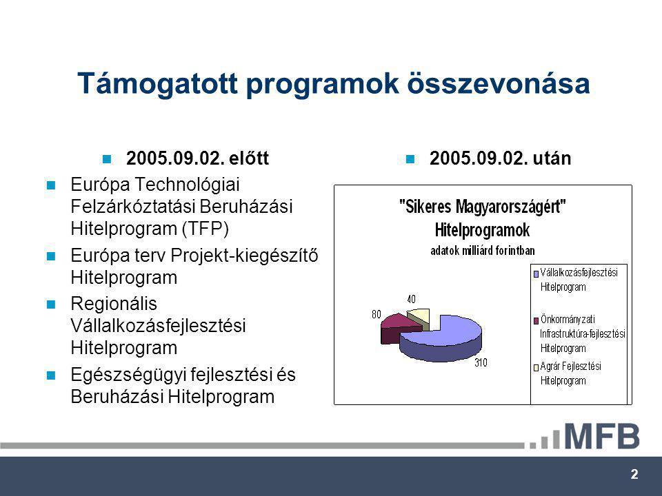 2 Támogatott programok összevonása  2005.09.02.