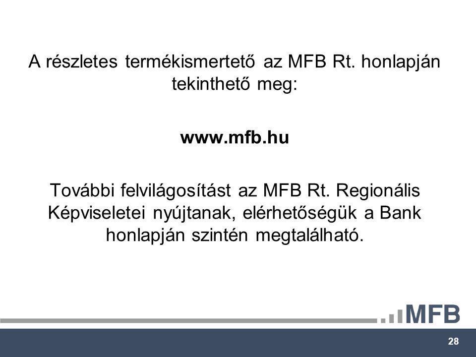 28 A részletes termékismertető az MFB Rt.