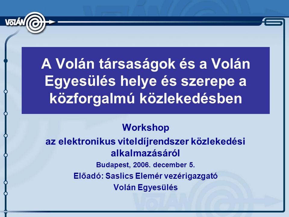 Workshop az elektronikus viteldíjrendszer közlekedési alkalmazásáról Budapest, 2006.