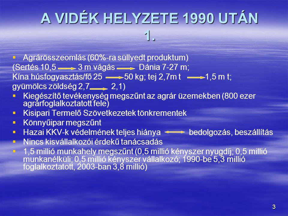 3 A VIDÉK HELYZETE 1990 UTÁN 1.