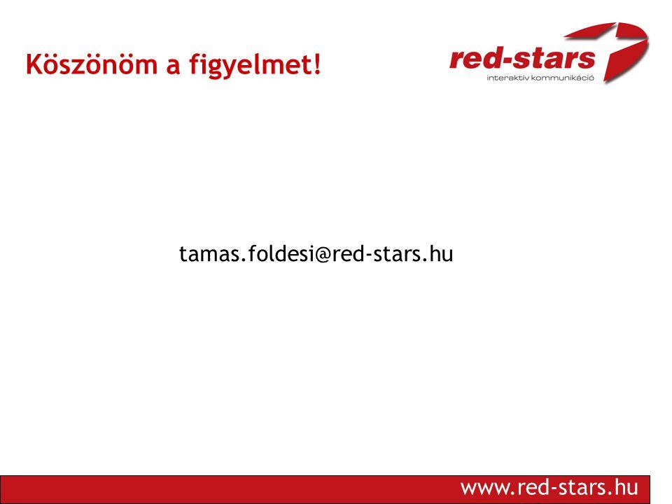 www.red-stars.hu Köszönöm a figyelmet! tamas.foldesi@red-stars.hu